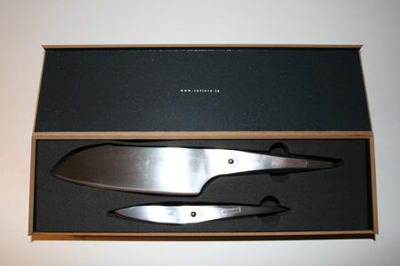 Unser Gewinn! Ein Set Chroma Messer designed by Porsche